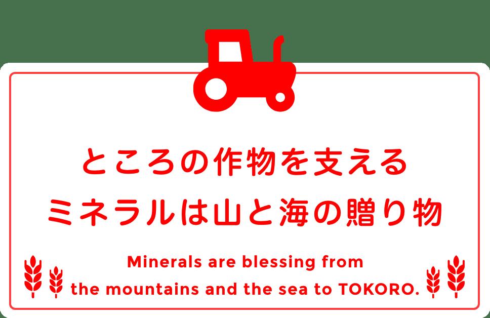 ところの作物を支えるミネラルは山と海の贈り物