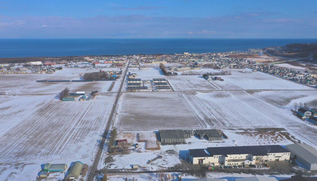 少雪2020.1.17撮影(玉選から市街地方面)