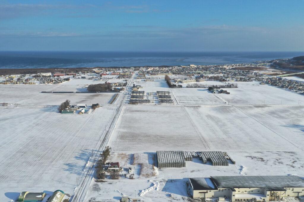 【JAところ通信】降雪があった町内をドローンで撮影しました