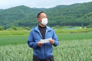 【JAところ通信】ところピンクにんにく収穫直前!現地講習会を撮影しました