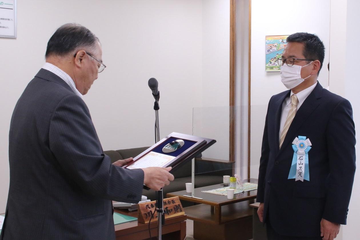 【JAところ通信】石山茂実常務理事が北海道農協功労者表彰を受賞しました